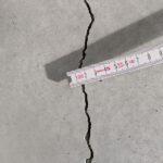 Riss in Bodenfläche